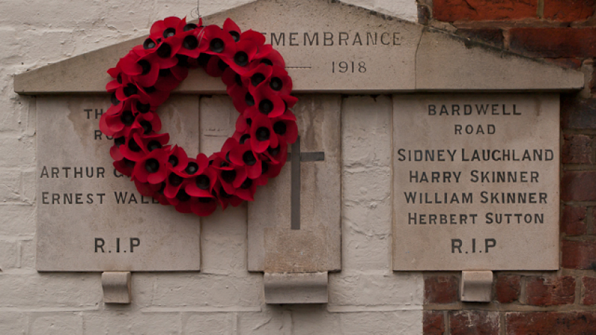 World War 1 Street Memorial Bardwell Road copyright Ian Capper