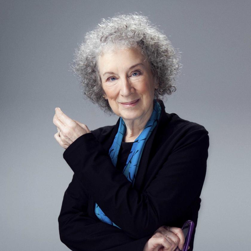 Margaret Atwood writing
